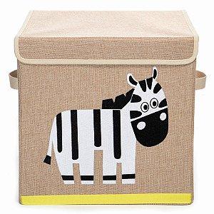 Caixa Organizadora Infantil Linha Bichos com Tampa - Zebra
