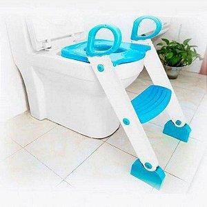Redutor de Assento Sanitário com Degrau Azul - Clingo