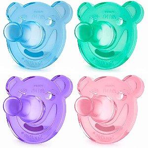 Chupeta Avent Soothie Calmante 0-3 Meses Pacote com 2 Unidades Urso