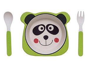 Kit Alimentação ECO Fibra de Bambu (03 Peças) Panda - Girotondo Baby