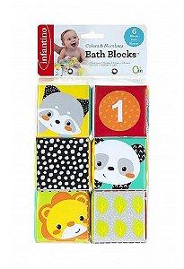 Blocos Coloridos Infantino para Diversão no Banho - Infantino