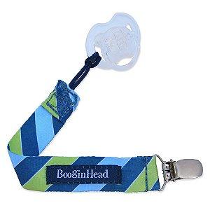 Prendedor de Tecido para Chupeta UNIVERSAL Listrado Azul e Verde - Pacigrip Booginhead