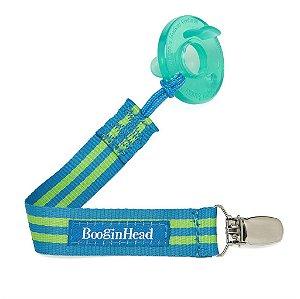 Prendedor de Tecido para Chupeta UNIVERSAL Azul Claro e Verde Claro - Pacigrip BooginHead