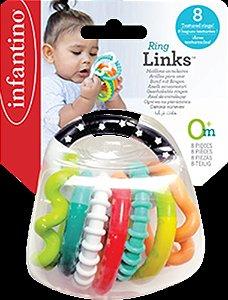Chocalho de Anéis Infantino Texturizados - Infantino