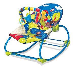 Cadeira de Balanço Musical Rocker Selva Azul - Mastela