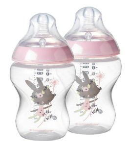 Kit Mamadeira Tommee Tippee Closer To Nature Anti Cólica 2 unidades 260ml Rosa