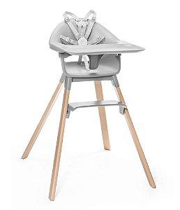 Cadeira de Alimentação Clickk 1-2-3 com Bandeja e Cinto Cinza - Stokke