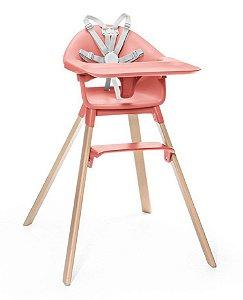 Cadeira de Alimentação Clickk 1-2-3 com Bandeja e Cinto Coral - Stokke