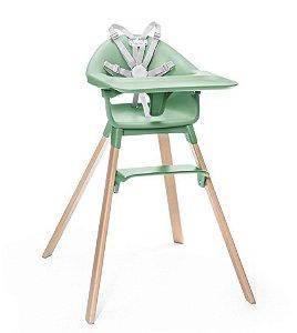 Cadeira de Alimentação Clickk 1-2-3 com Bandeja e Cinto Verde - Stokke