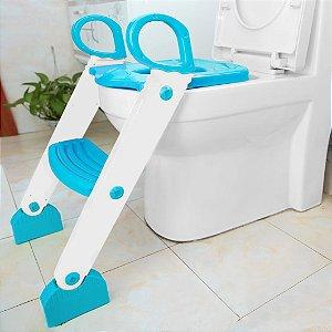 Redutor de Assento Sanitário com Degrau Azul - Kababy