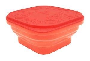 Marmitinha Container Dobrável em Silicone Leão - Marcus & Marcus