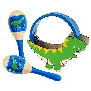 Kit de Percussão Musical Infantil Dino - Stephen Joseph
