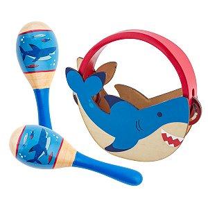 Kit de Percussão Musical Infantil Tubarão - Stephen Joseph