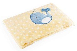 Manta para Bebê De Plush Amarelo - Baby Pil