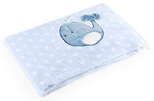 Manta para Bebê De Plush Azul - Baby Pil