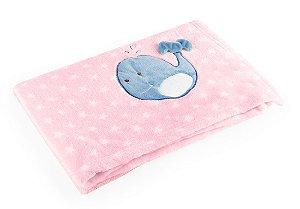 Manta para Bebê De Plush Rosa - Baby Pil