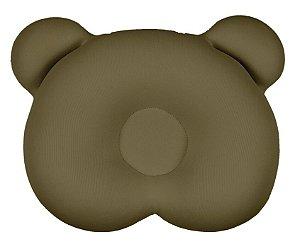 Almofada Ergonômica para Cabeça do Bebê Ursinho Marrom - Baby Pil