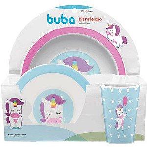 Kit Refeição Animal Fun Unicórnio - Buba