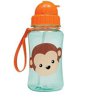 Garrafinha Infantil com Canudo Animal Fun Macaco - Buba