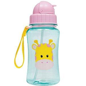 Garrafinha Infantil com Canudo Animal Fun Girafa - Buba