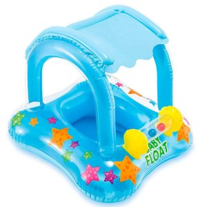 Boia Baby Boat Kiddie com Cobertura Fundo do Mar - Intex