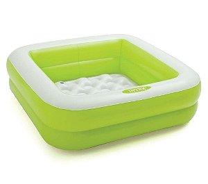 Piscina Inflável Infantil Soft 57L Verde - Intex