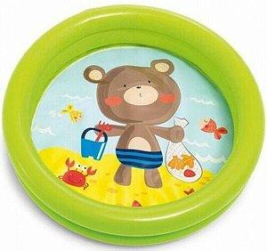Piscina Infantil Inflável Baby 17L Urso - Intex