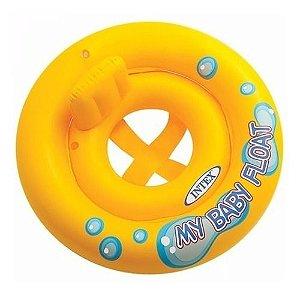 Boia Inflável Infantil Baby Meu Primeiro Bote (Assento em Faixas) - Intex