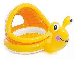 Piscina Inflável Infantil com Cobertura Caracol Preguiçoso 53L - Intex