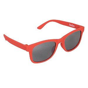 Óculos de Sol Baby com Armação Flexível e Proteção Solar Vermelho - Buba
