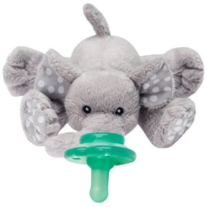 Pelúcia Prendedor de Chupeta Universal Paci Plushies Elefante Ella - Nookums
