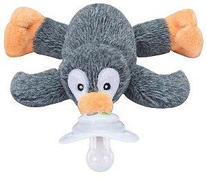 Paci Plushies Nookums Pinguim Malhado - Prendedor de Chupeta Universal
