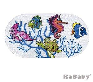 Tapete Antiderrapante para Banho Peixinhos - Kababy