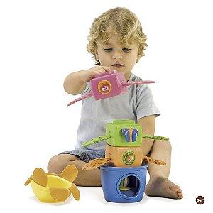 Brinquedo Blocos de Empilhar Stack Flap N' Tumble - Yokidoo