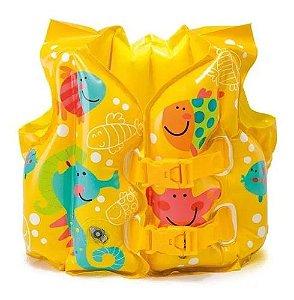 Bóia Colete Infantil Inflável Peixinhos - Intex