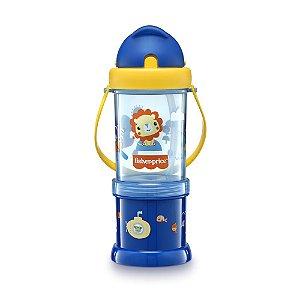 Copo com Porta Snack Playful Azul Summer Sky - Fisher Price