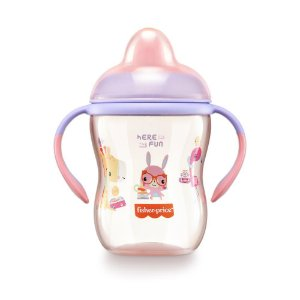 Copo de Treinamento com Bico Semi-Rígido First Moments Rosa - Fisher Price
