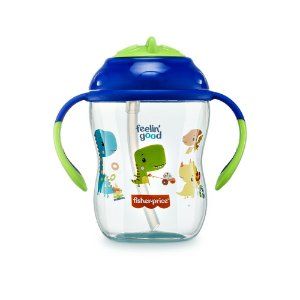Copo de Treinamento com Canudo First Moments Azul Blueberry Smoothie - Fisher Price