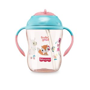 Copo de Treinamento com Canudo First Moments Rosa Pink Lemonade - Fisher Price