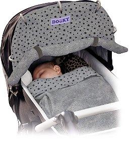 Capa Universal para Carrinho e Bebê Conforto Estrelas Cinza Escuro - Dooky