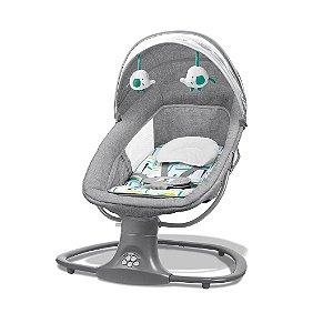 Cadeira de Balanço Automática com Bluetooth Techno Verde Estampada - Mastela