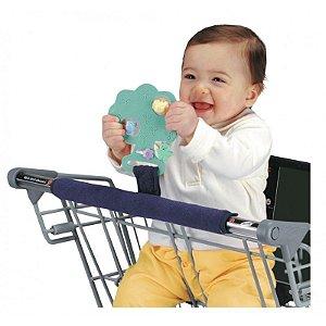 Protetor para Barra de Carrinho de Supermercado com Alça para Brinquedo/Mordedor Buggy Buddy Verde - Jolly Jumper