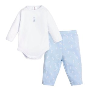 Conjunto Body e Calça Sophie La Girafe (Algodão Egípcio) Azul