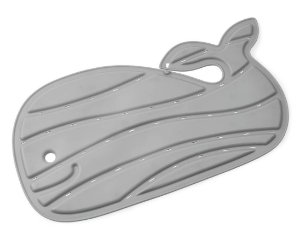 Tapete de Banho Antiderrapante Baleia Moby Cinza - Skip Hop