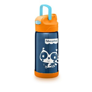Copo Térmico Aço Inox Hot & Cold Azul Candy Cane - Fisher Price