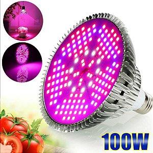 Lâmpada de LED full spectrum 100W para vegetação e floração de plantas - Bocal E27