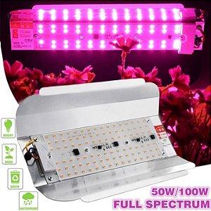 Painel de Led Full Spectrum 50W Para Vegetação e Floração de Plantas