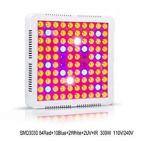 Painel LED 300W Vegetação e Floração de Plantas Full Spectrum