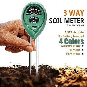 Medidor 3 em 1 - Medidor de PH, Medidor de Umidade e Medidor de luminosidade
