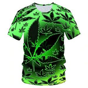 Camiseta masculina estampa 3D